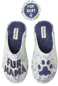 Dearfoams Women's Fur Mama Scuff Slippers