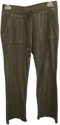 Juicy Couture Khaki Cotton Trousers for Women
