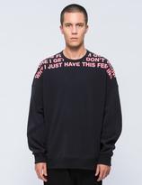 Lad Musician Text Neck L/S Sweatshirt