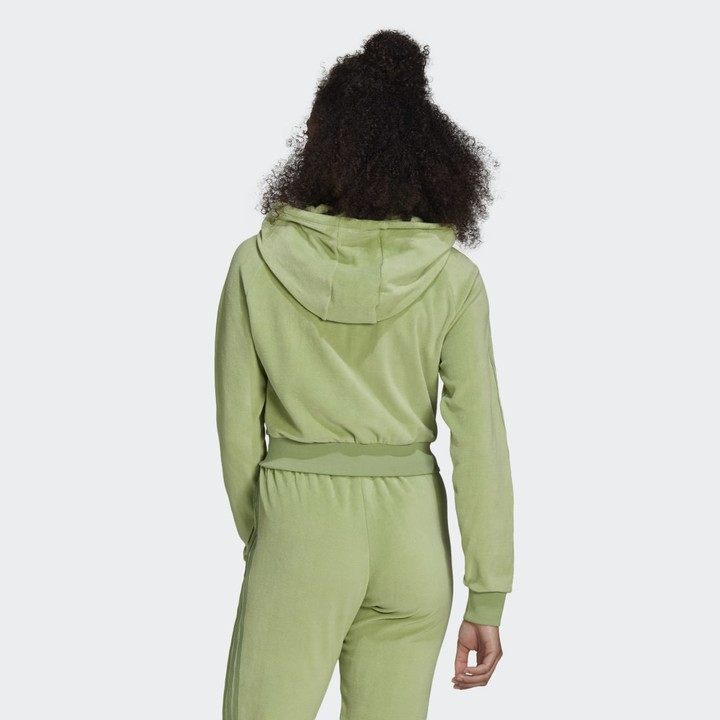 Thumbnail for your product : adidas LOUNGEWEAR Full Zip Hoodie Chalk Green 2XS Womens