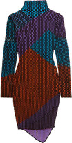 Opening Ceremony Intarsia-knit turtleneck dress