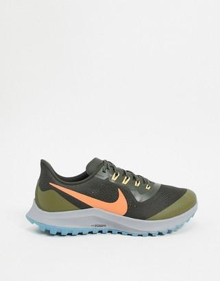 Nike Running Air Zoom Pegasus 36 Trail trainers in green