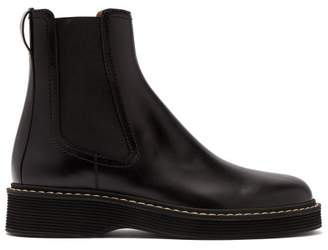 Marni Leather Chelsea Boots - Mens - Black
