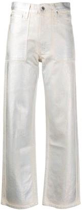 Helmut Lang Metallic Straight-Leg Jeans