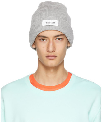 Givenchy Grey Patch Beanie