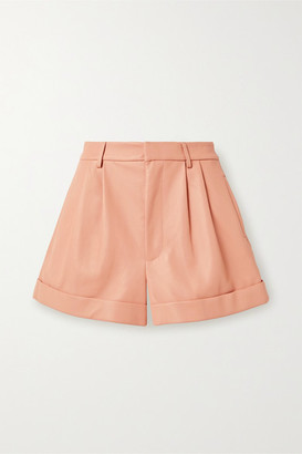 Alice + Olivia Alice Olivia - Conry Pleated Leather Shorts - Blush