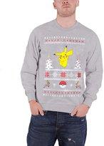 Pokemon Christmas Jumper Sweatshirt Pikachu Christmas new Official Mens