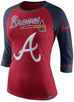 Nike Women's Atlanta Braves Tri Raglan T-Shirt