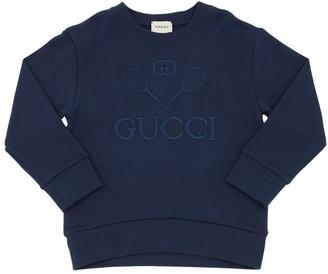 Gucci Logo Tennis Cotton Sweatshirt