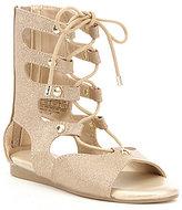 MICHAEL Michael Kors Girls' Demi Carly Metallic Tall Lace-Up Gladiator Sandal