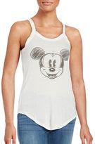 David Lerner Mickey Mouse Ribbed Tank Top