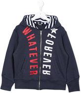 Diesel printed hooded jacket - kids - Cotton - 8 yrs