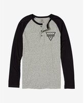 Express color block triangle henley