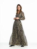 Scotch & Soda Silk Jacquard Maxi Dress