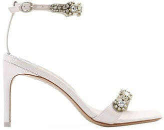 Sophia Webster Aaliyah Crystal-Embellished Satin Sandals