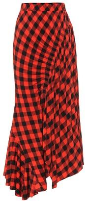 Preen by Thornton Bregazzi Hayat checked midi skirt