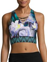 Nanette Lepore Bouquet Print Lace Crop Top