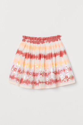 H&M Sequined Cotton Skirt