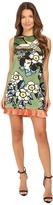 DSQUARED2 Fantasy Printed Silk Cherry Blossom Silk Mini Dress Women's Dress