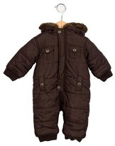 Jacadi Boys' Faux Fur-Trimmed One-Piece Snowsuit