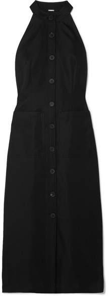 ADAM by Adam Lippes Wool-blend Gabardine Midi Dress - Black