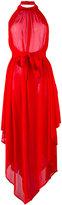 Balmain halterneck backless asymmetric dress - women - Polyamide/Polyester/Viscose - 40