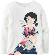 Carter's Baby Girl Long Sleeve Glitter Graphic Tee
