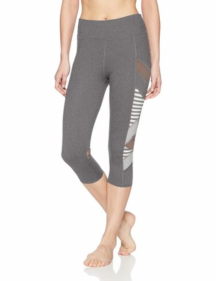 Splendid Women's Activewear Yoga Striped Cross Panel Capri
