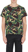 Off-White Men's Camouflage Cotton T-Shirt-DARK GREEN