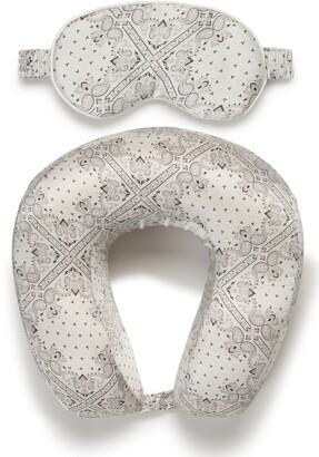 CalPak Silk Travel Neck Pillow & Eye Mask Set