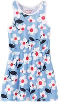 Joe Fresh Toddler Girls' Floral Summer Dress, Blue (Size 2)