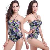 jhlkjrtvb New Women's Bandage Tankini Set Push-up Padded Bra Swimsuit Bathing Suit Swimwear (XL, )