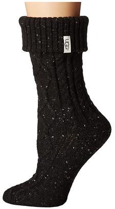 UGG Sienna Short Rainboot Socks (Black) Women's Knee High Socks Shoes
