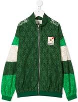 Gucci Kids floral lace bomber jacket