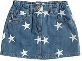 Moschino Star Embroidered Stretch Denim Skirt