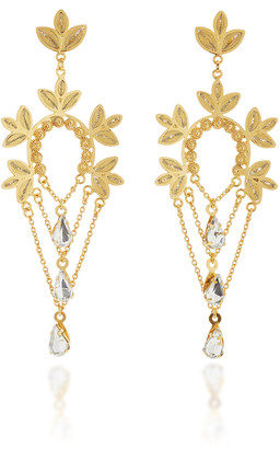 Mallarino Marie 24K Gold Vermeil and Crystal Earrings