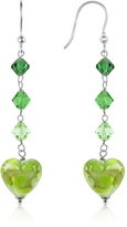 Glass Heart House of Murano Vortice - Lime Swirling Murano Earrings