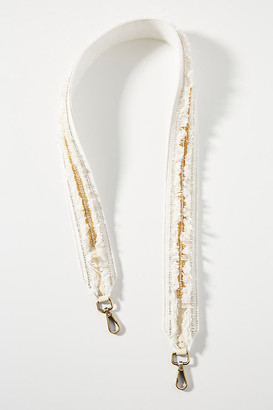 Anthropologie Rooney Embellished Bag Strap By in White Size ALL