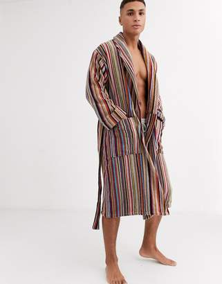 Paul Smith classic stripe dressing gown in multi