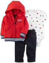 Carter's 3-Pc. Hoodie, Pants & Bodysuit Cotton Set, Baby Boys
