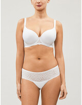 Simone Perele Caresse 3D Spacer and stretch-lace underwired plunge bra