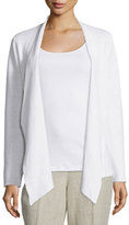 Eileen Fisher Angled-Front Organic Linen Jacket, Plus Size