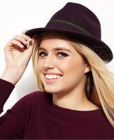 Nine West Felt Fedora with Ribbon Hat