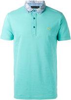 Etro contrast collar polo shirt - men - Cotton - L