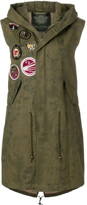 Mr & Mrs Italy Patch Detail Midi Gilet