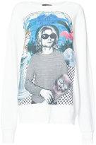 R 13 Kurt Cobain print T-shirt - women - Cotton - M