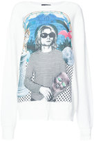 R 13 Kurt Cobain print T-shirt - women - Cotton - S