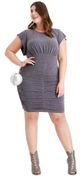 Vince Camuto Plus Size Metallic Ruched Dress