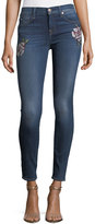 7 For All Mankind The Skinny Jeans w/ Needlepoint Patches