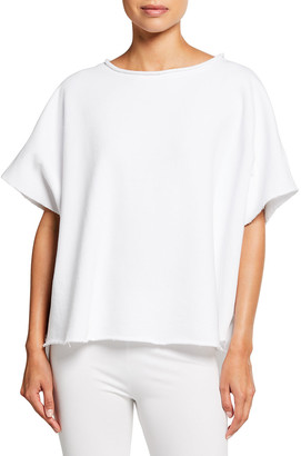 Frank And Eileen Capelet Raw-Edge Tee, White
